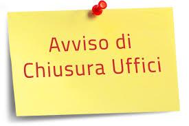 CHIUSURA UFFICI COMUNALI IL GIORNO 17.07.2020
